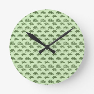 For Perfect gift maths to lover - Green model Round Clock