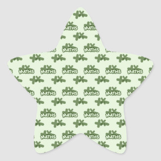 For Perfect gift maths to lover - Green model Star Sticker