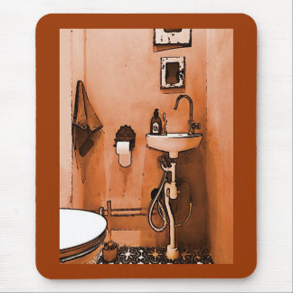 """For Plumber Lovers Vintage """"Le Toilet"""" Mouse Pad"""
