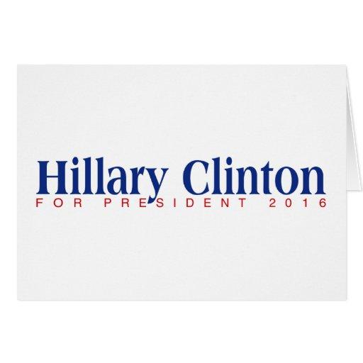 For President 2016 Card