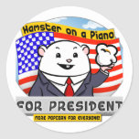For President Classic Round Sticker