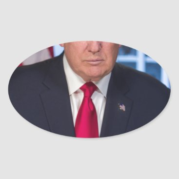 For President Donald Trump Fans Oval Sticker