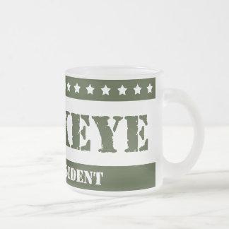 For President Hawkeye Frosted Glass Coffee Mug