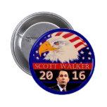 For President in 2016 Scott Walker Pinback Button