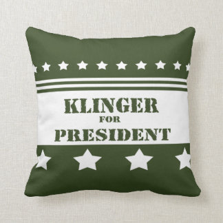 For President Klinger Throw Pillow