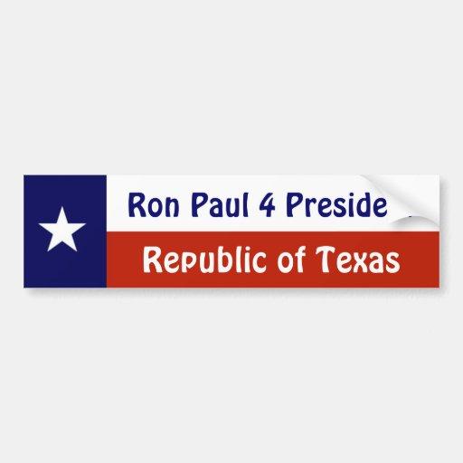 for President of Texas Bumper Sticker