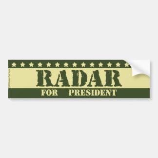 For President Radar Car Bumper Sticker