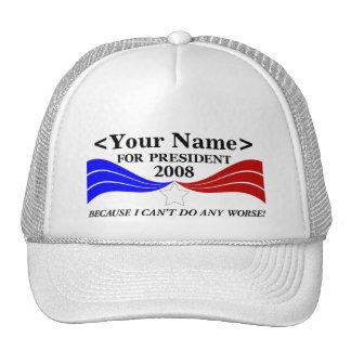 for President Template Trucker Hats