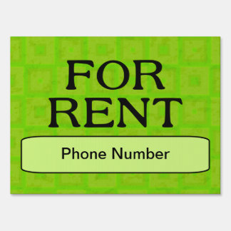 FOR RENT LAWN SIGNS