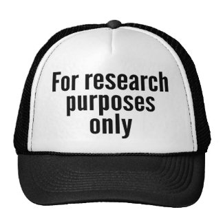 For Research Purposes Only Trucker Hat