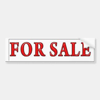 For Sale Bumper Sticker Car Bumper Sticker