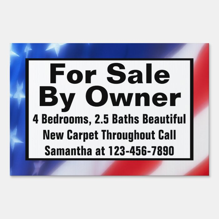 for sale by owner sign template - for sale by owner custom printed real estate sign zazzle