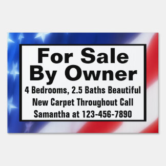 For Sale By Owner Custom Printed Real Estate Sign