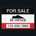 "For Sale By Owner House Sale Lawn Sign<br><div class=""desc"">For sale sign .. house for sale by owner sign .. customizable for you to personalize with your own details ..  yard signs from Ricaso</div>"