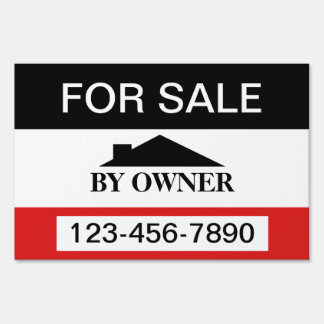For Sale By Owner House Sale Lawn Sign