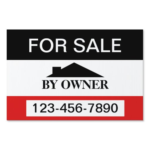 For sale by owner house sale yard sign zazzle for B b for sale by owner