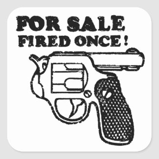 For Sale Fired Once - Funny Sticker