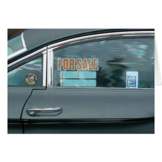 For Sale sign in a window of a dynamic 88 Card