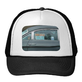 For Sale sign in a window of a dynamic 88 Trucker Hat