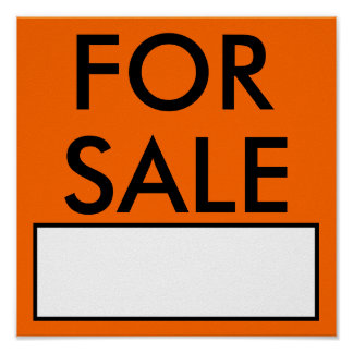 FOR SALE SIGN/Poster Poster
