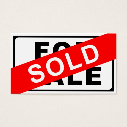 for sale    sold sign business card
