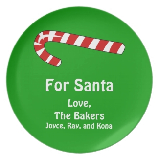 For Santa Candy Cane Christmas Add Your Name