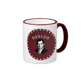 FOR SANTORUM 2012 RINGER COFFEE MUG