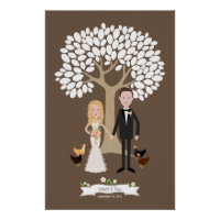 For Sarah: Signature Tree with Couple Portrait
