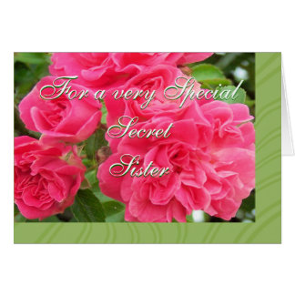 For Secret Sister-customize Greeting Card