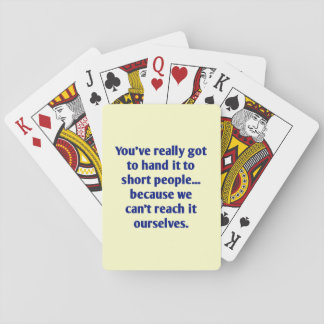 For Short Folks With a Sense of Humor Card Decks
