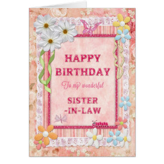 For sister-in-law, craft birthday card
