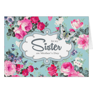 Happy mothers day to sister cards greeting photo cards zazzle for sister on mothers day greeting cards m4hsunfo