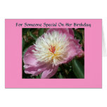 For someone special on her birthday card