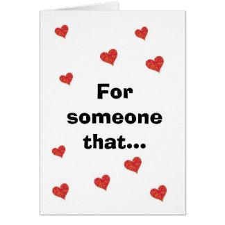 for someone that card