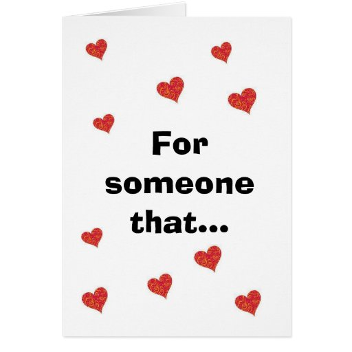 for someone that cards
