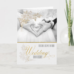 Son and daughter in law wedding anniversary cards zazzle for son and his wife wedding anniversary card m4hsunfo