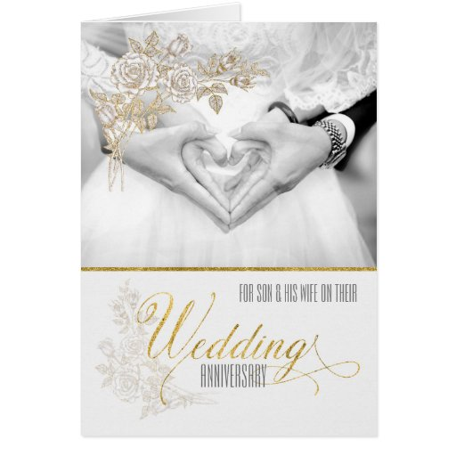 For son and his wife wedding anniversary card zazzle