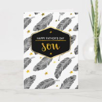 For Son on Father's Day Custom Greeting Cards