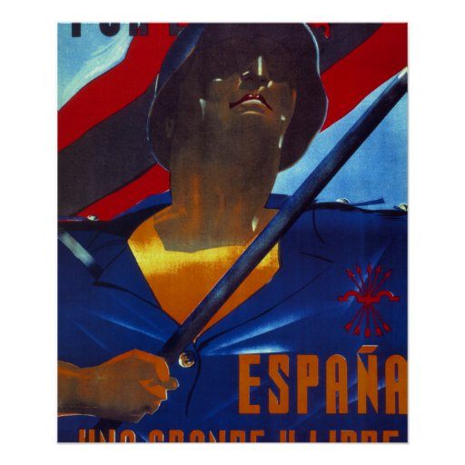 For Spain, one, great and free_Propaganda Poster