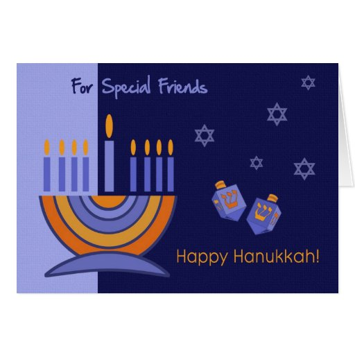 For Special Friends on Hanukkah . Greeting Card