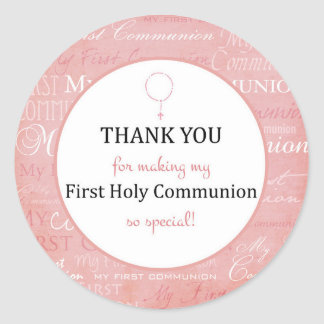 For Thank you coming - First Holy communion tag - Classic Round Sticker