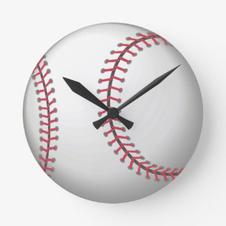 For the ball sport lover / sports person: Baseball Round Clock
