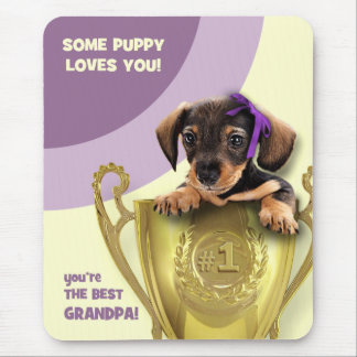 For The Best Grandpa. Father's Day Gift Mousepads