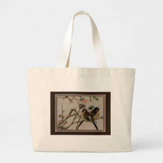 For the birds jumbo tote bag