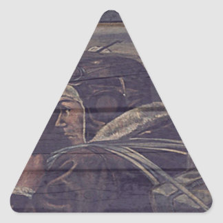 For The Brave Triangle Sticker