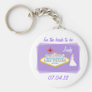 for the bride to be Bridal Shower In Las Vegas Kee Basic Round Button Keychain