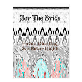 For the Bride White and Black Edgy design Postcard
