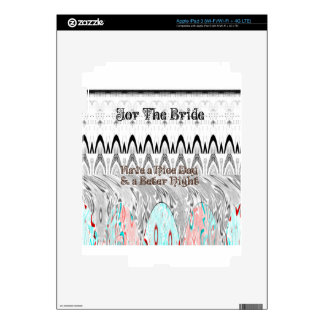 For the Bride White and Black Edgy design iPad 3 Skin