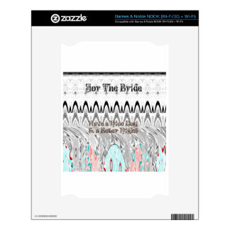 For the Bride White and Black Edgy design Decals For The NOOK
