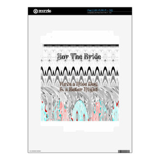 For the Bride White and Black Edgy design Skin For The iPad 2